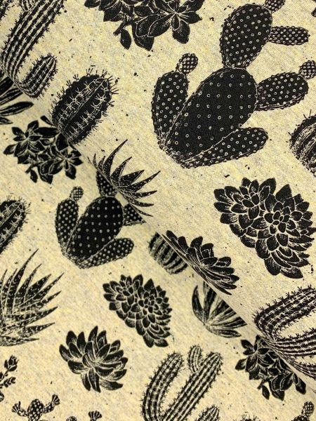 FrenchTerry Kaktus Beige-Melange