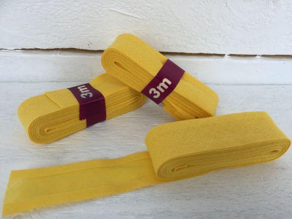 Schrägband Baumwolle Gelb