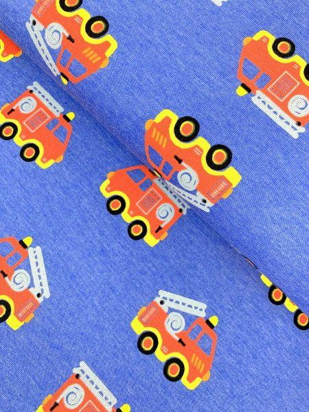 Melange-Jersey Feuerwehr Blau