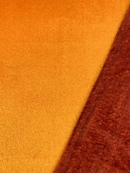 Wellness-Fleece Doubleface Kürbis/Kastanie