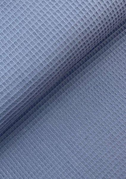 Waffel-Piqué Jeansblau