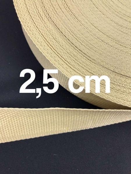 Gurtband 2,5 cm Breit Natur