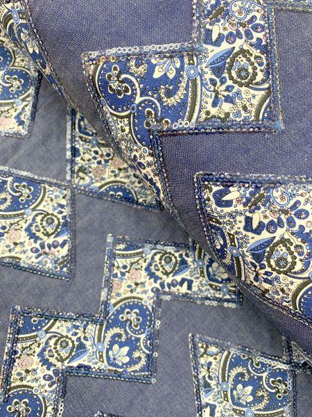 Jeans Pailletten Bestickt Dunkel