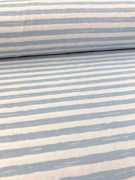 Baumwolle Blurry Stripe Hellblau