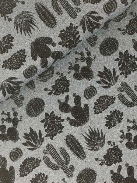 FrenchTerry Kaktus Dunkelblau-Melange