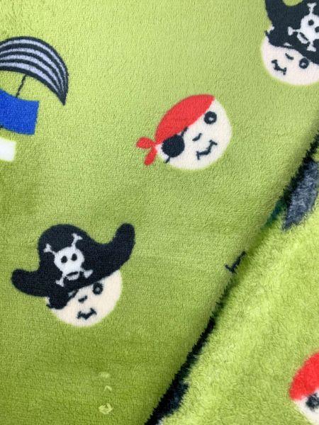 Wellnessfleece Piraten Grün