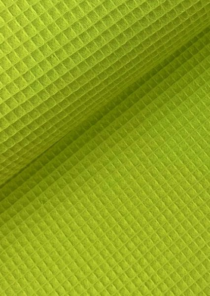 Waffel-Piqué Lime