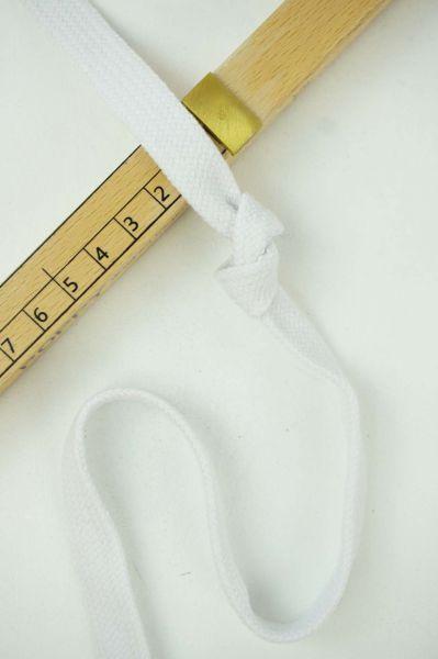 Hoodie-Flachkordel 15mm Weiss