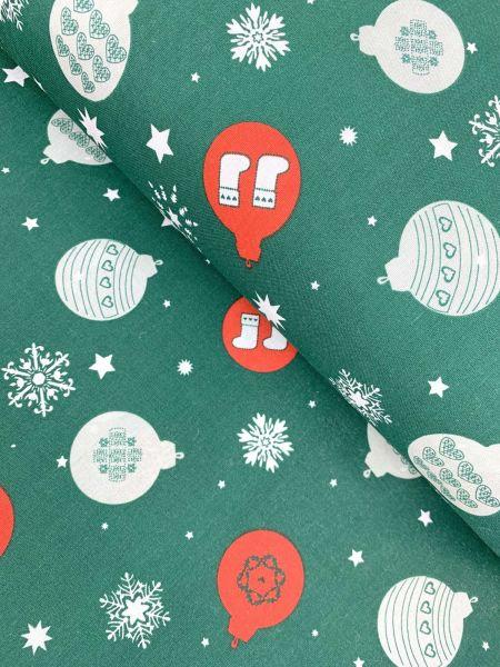Baumwolle Weihnachtskugeln Grün