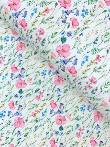 Baumwolljersey Fleur de Printemps