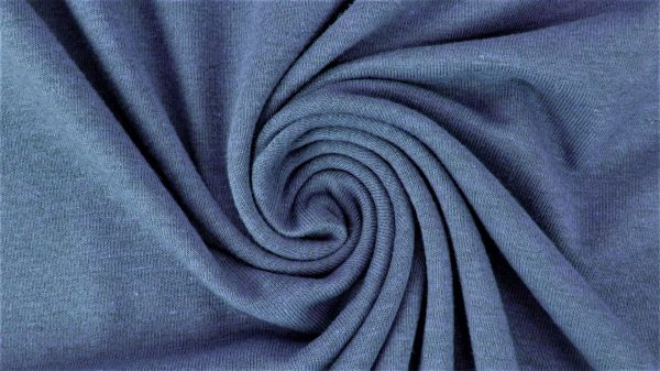 Baumwolljersey BLACK-melange Blau