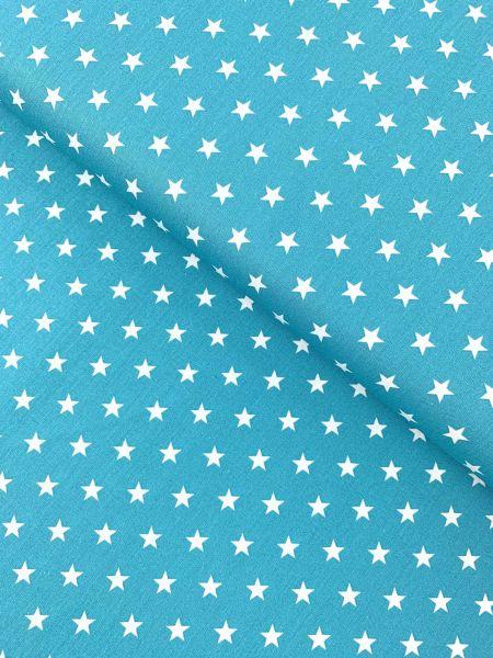 Baumwolle Design by Poppy Sterne Mittel TÜRKIS