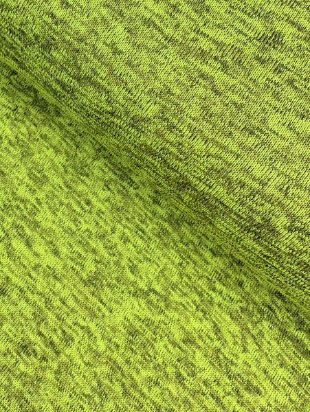 Kuschel-Strick Fleece melange Lime