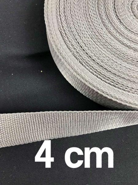 Gurtband 4 cm Breit Hellgrau