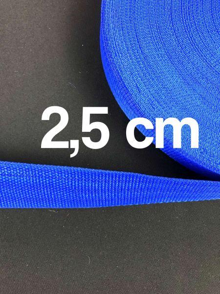 Gurtband 2,5 cm Breit Royal