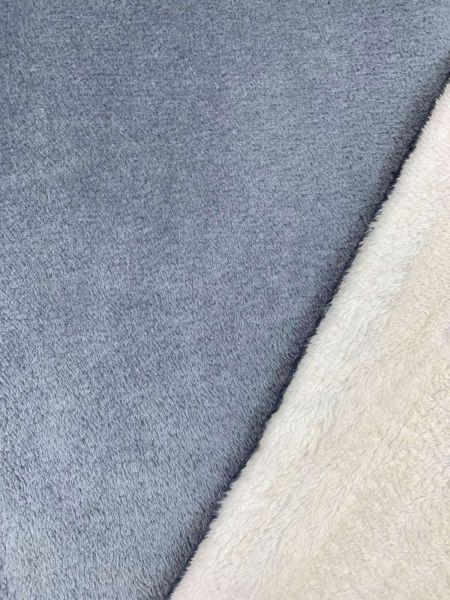 Wellness-Fleece Doubleface Grau/Weiss