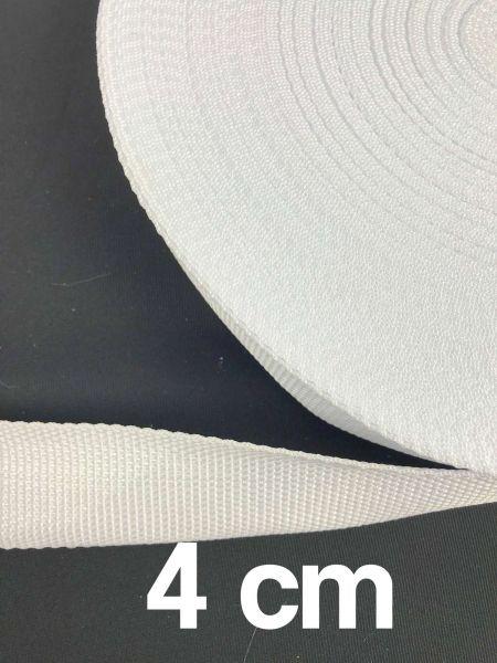 Gurtband 4 cm Breit Weiß