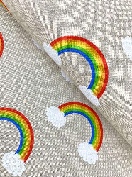 Dekostoff ÖKOTEX Rainbow Cloud