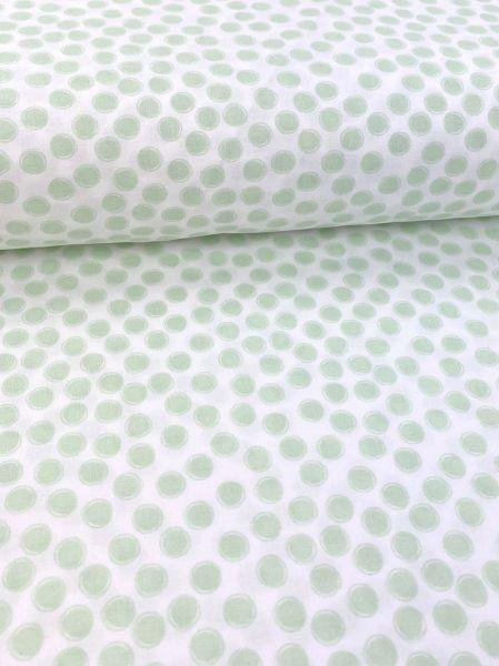 Baumwolle Blurry Dot Lindgrün