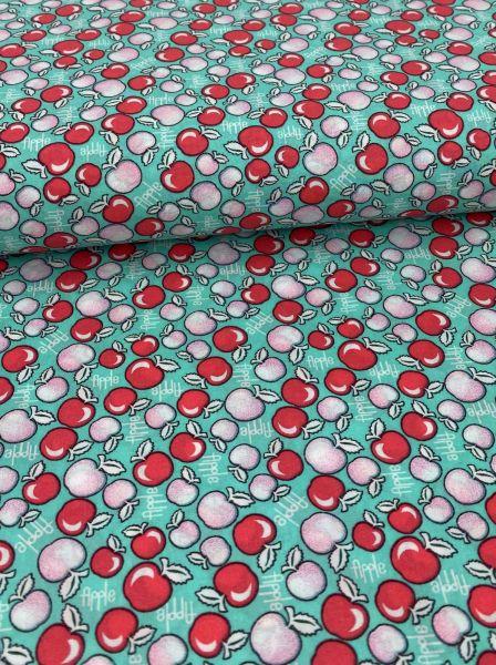 Baumwolle Ökotex Apple Aqua