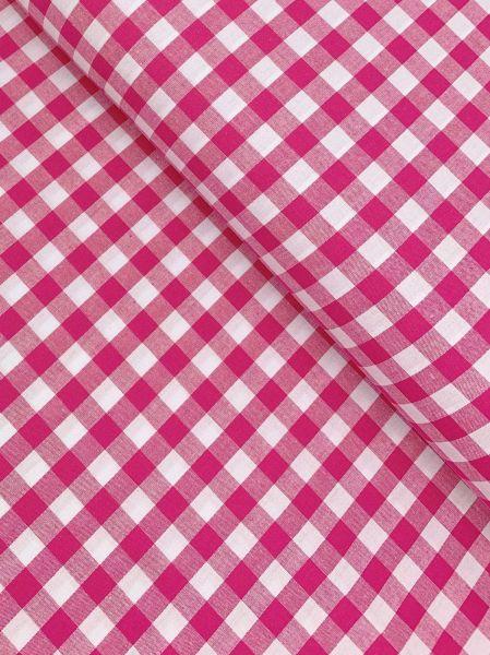 Baumwolle Karo 1cm Pink10