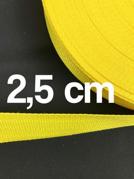 Gurtband 2,5 cm Breit Gelb