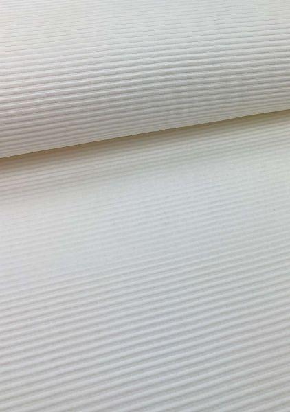 Cord-Jersey Breit Weiß