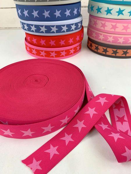 Gummiband Stern Pink/Rosa