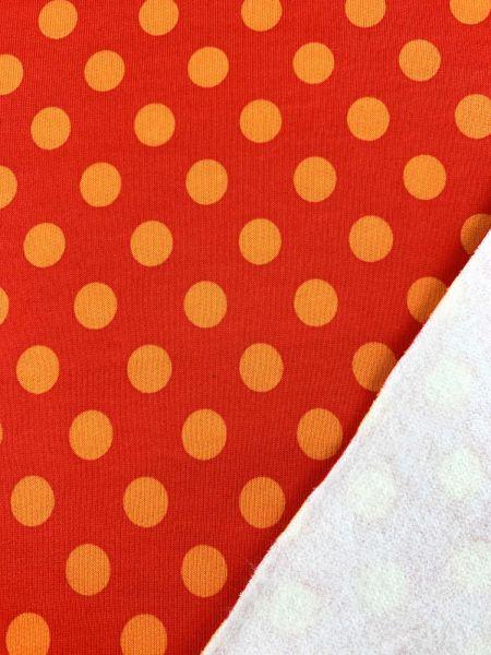 Sweat Dot Rot/Orange ÖKOTEX