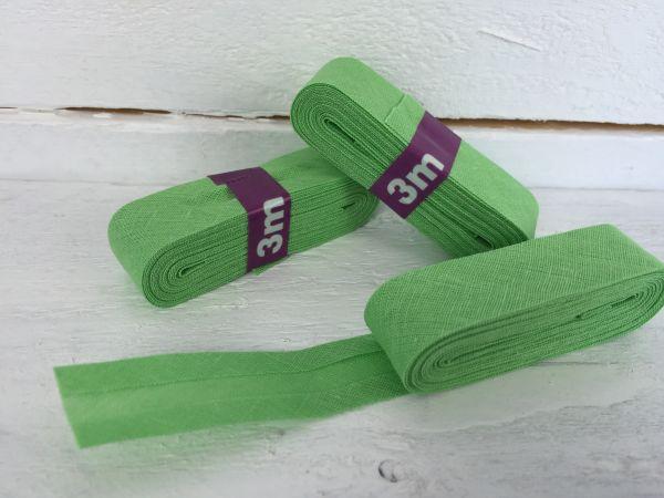 Schrägband Baumwolle Hellgrün