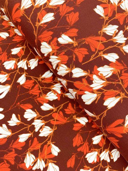 Baumwolljersey Blüten Rost