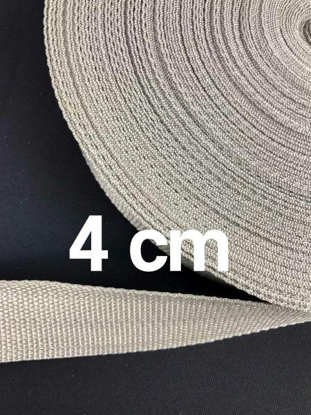 Gurtband 4 cm Breit Silber