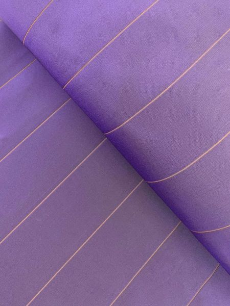 Gardinenstoff Streifen Lila/Gold