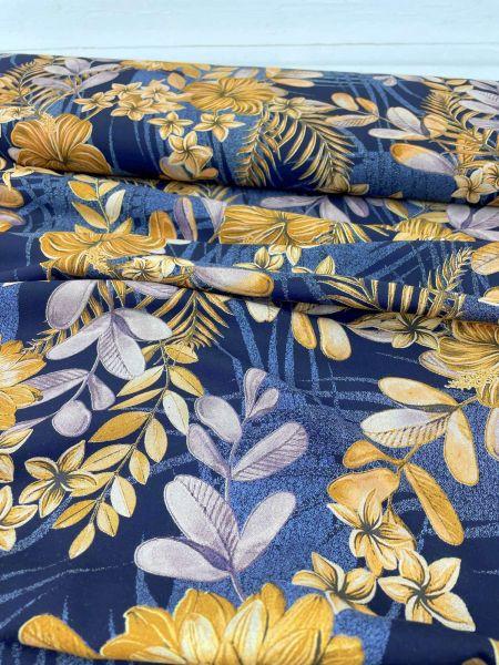 Viscose Webware Herbstblume 2