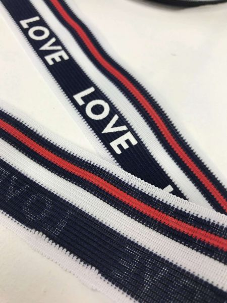 Einfassband LOVE Marineblau 3,8cm