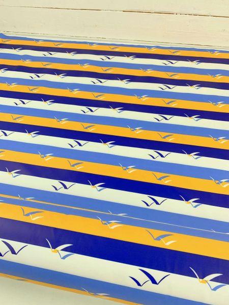 Regenjackenstoff Maritim Streifen Gelb