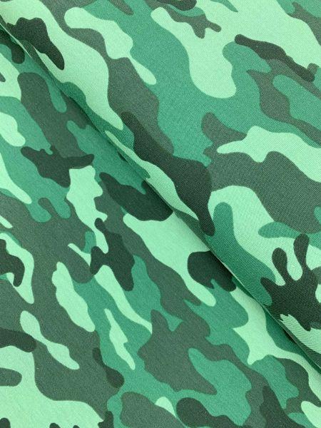 French Terry Camouflage Grün ÖKOTEX