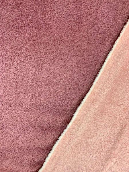 Wellness-Fleece Doubleface Altrosa/Rosa