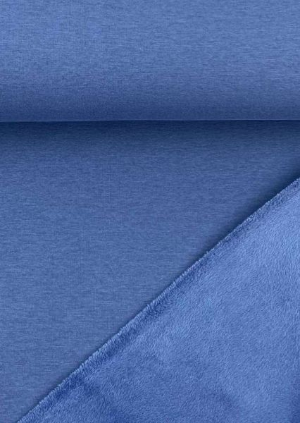 Alpenfleece ÖKOTEX uni Jeansblau