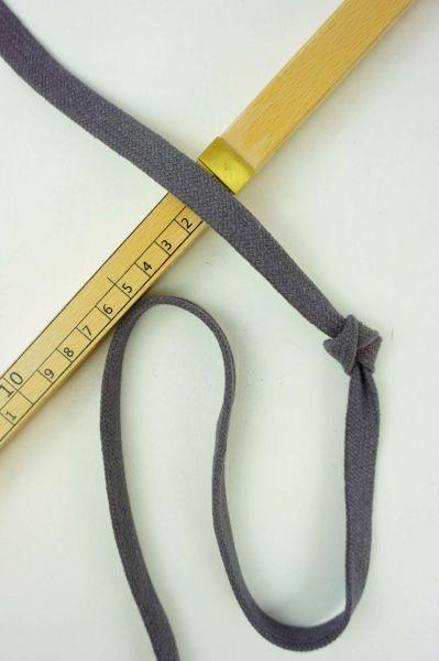 Hoodie-Flachkordel 15mm Dunkelgrau