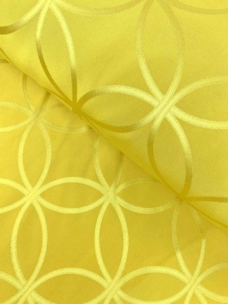 Überbreiter Gardinenstoff Gold Formen