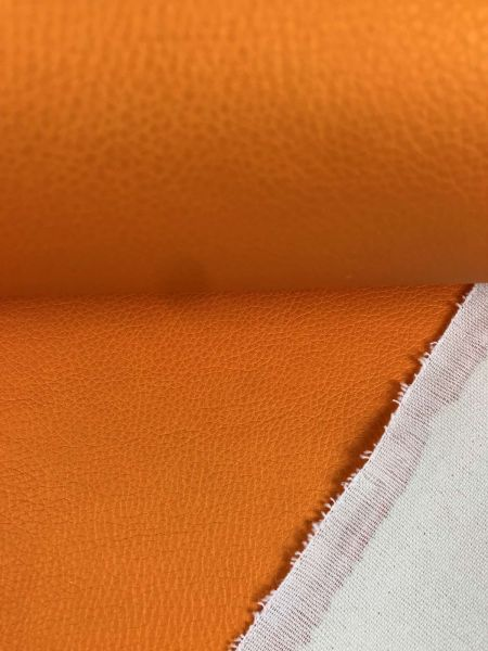 Kunstleder BRILLIANT Apfelsine Metallic