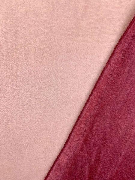 Wellness-Fleece Doubleface Rosa/Altrosa