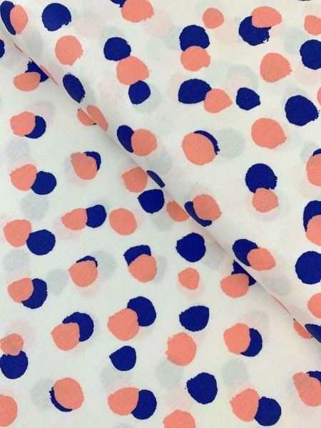 Baumwolle Blurry Dots Weiss