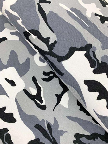 French Terry Camouflage Grau ÖKOTEX