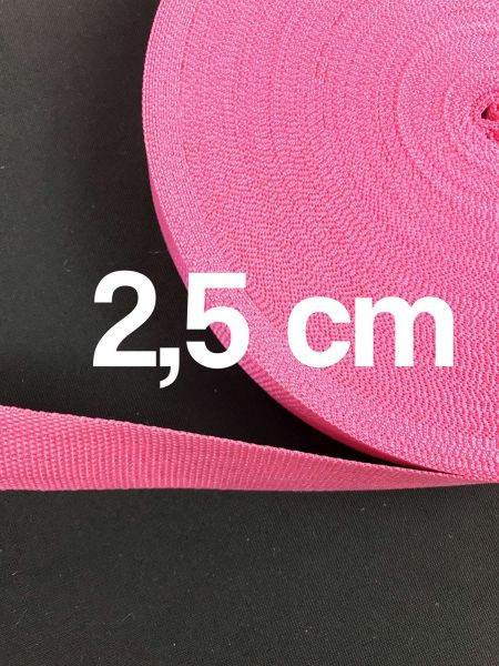 Gurtband 2,5 cm Breit Pink