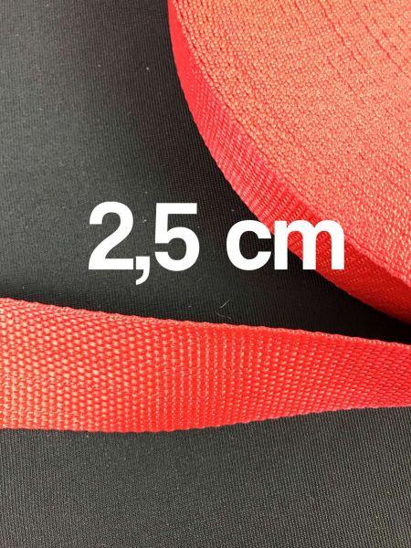 Gurtband 2,5 cm Breit Rot