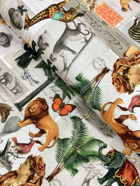 Deko DIGITALDRUCK Cards From Africa Grau