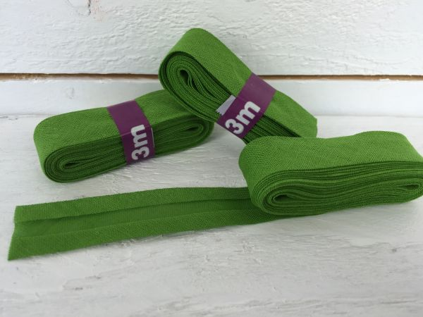 Schrägband Baumwolle Grün