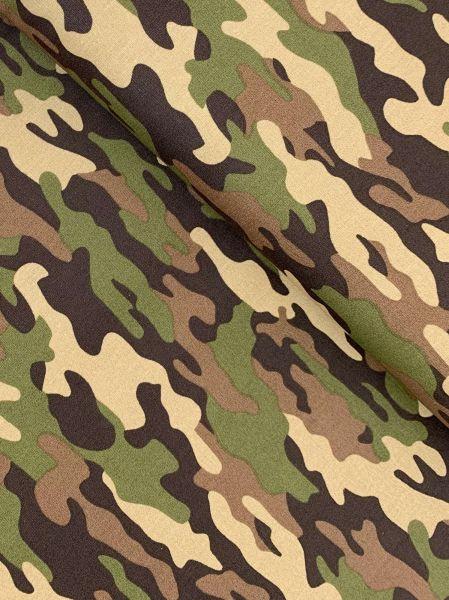 Baumwoll-Webware Camouflage Khaki